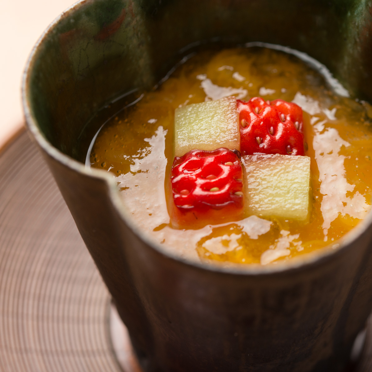 甘味|苺のムースとせとかオレンジのジュレ