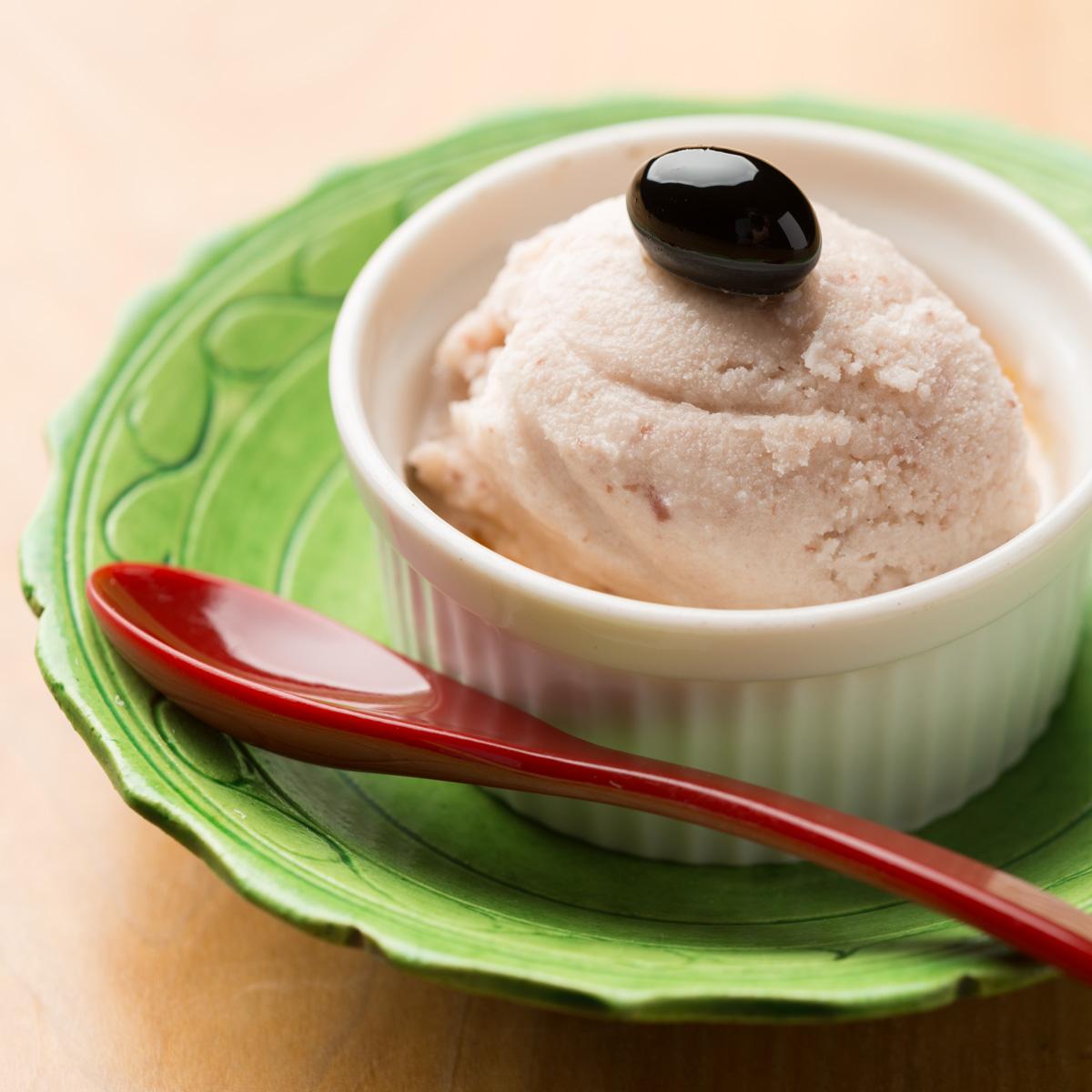 甘味|桜とあずきのアイスクリーム