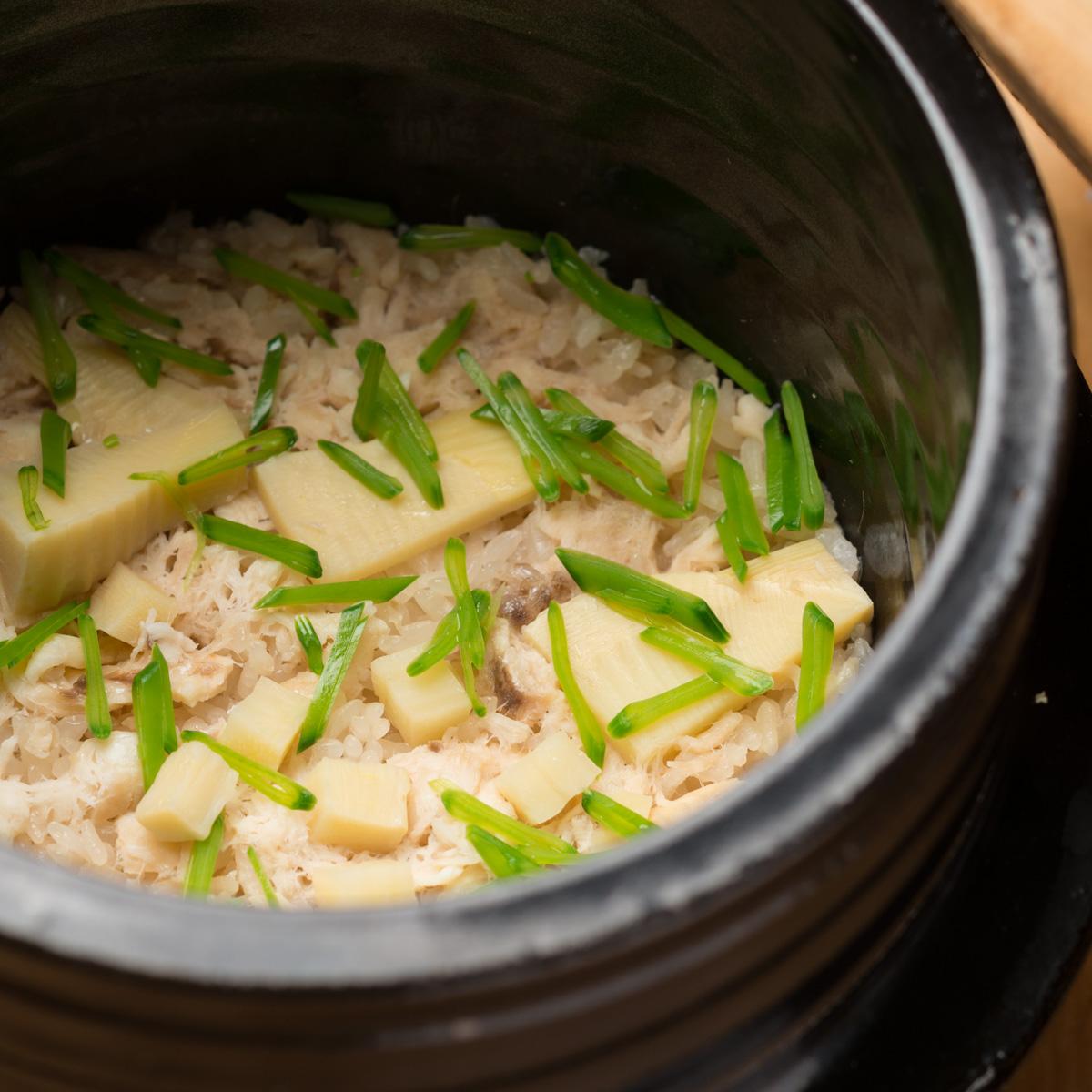御飯物 鯛と新竹の子の炊き込み御飯