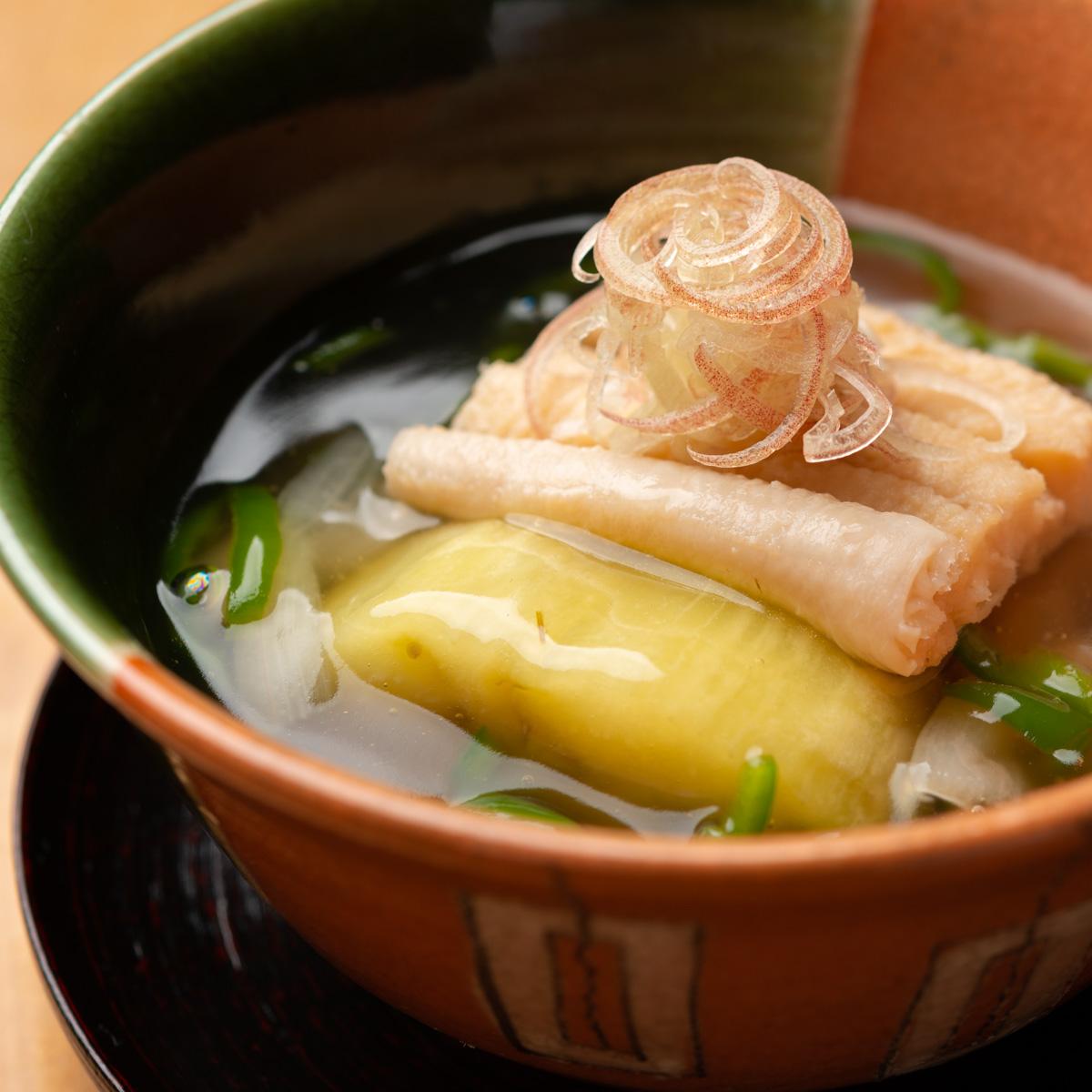 煮物|穴子と夏野菜の炊き合わせ