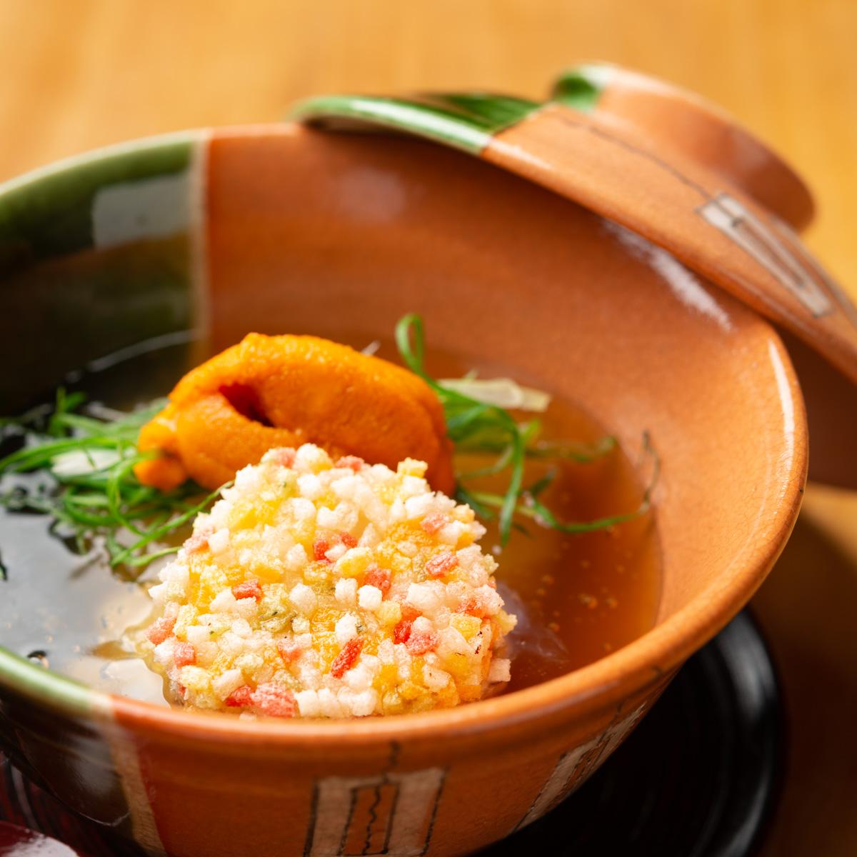 煮物 冬瓜と新里芋の炊き合わせ