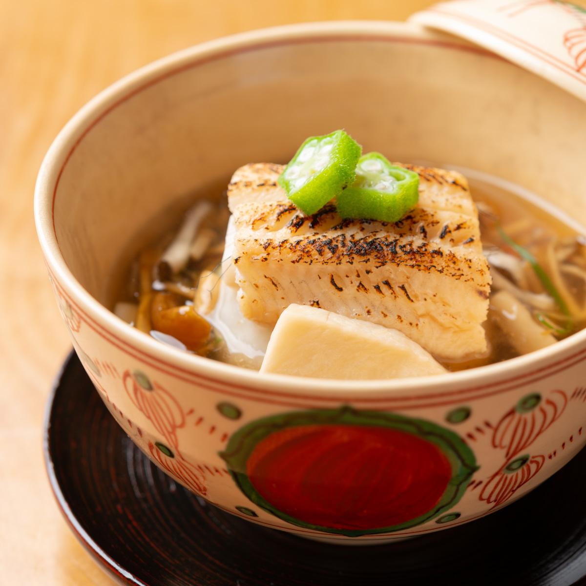 煮物|穴子と里芋まんじゅう きのこあんかけ