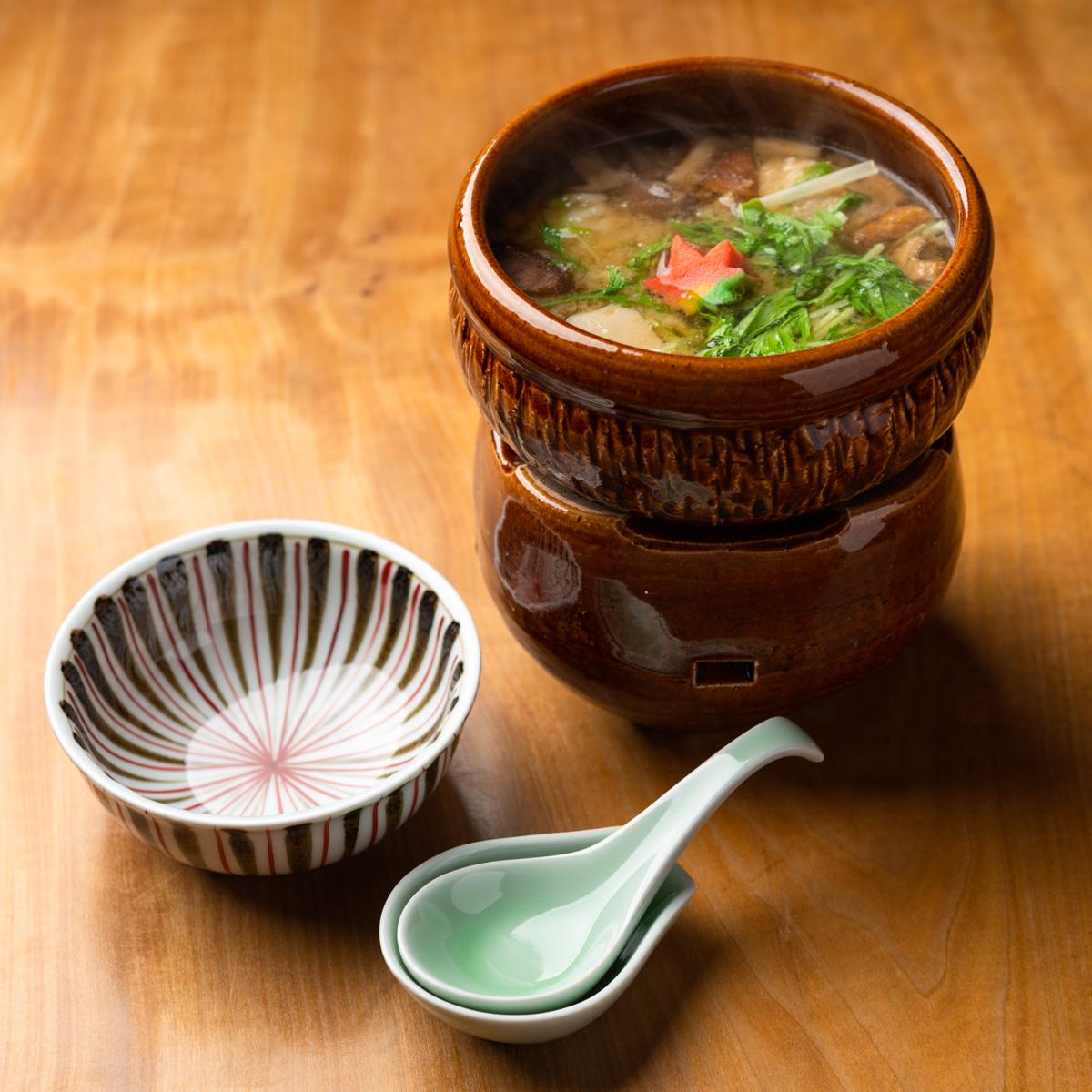 煮物 鱧と秋野菜の小鍋仕立て